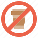 cup, signaling, plastic, forbidden, prohibition icon