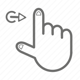 finger, gesture, hand, one, right, touch icon