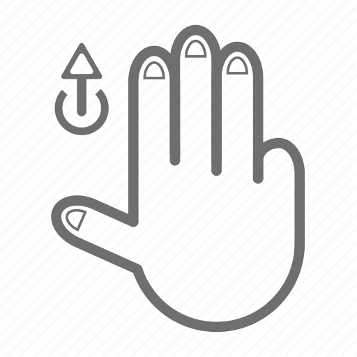 finger, gesture, hand, touch, up icon