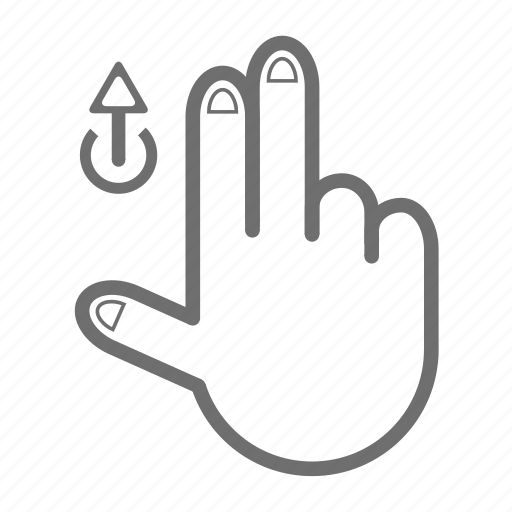 finger, gesture, hand, touch, two, up icon
