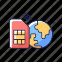 sim, card, internet, network