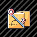 roadtrip, map, navigation, cartography