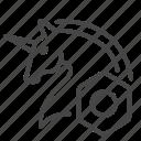 nft, blockchain, crypto, non-fungible token, rare, unicorn, asset icon
