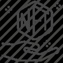 nft, blockchain, crypto, non-fungible token, trade, digital currency icon