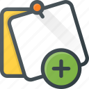 add, comment, message, note, task icon