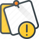 attention, comment, message, note, task icon