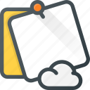 cloud, comment, message, note, task icon