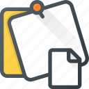 comment, document, file, message, note, task icon