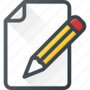 comment, edit, message, note, task, write