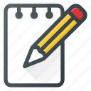 comment, edit, message, note, task, write icon
