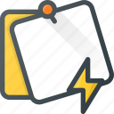 comment, fast, lighting, message, note, task icon