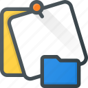 comment, directory, folder, message, note, task icon