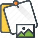 comment, image, message, note, picture, task icon