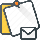 comment, email, mail, message, note, task icon