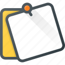 comment, it, message, note, post, postit, task icon