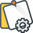 comment, message, note, settings, task icon