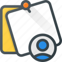 comment, message, note, task, user icon