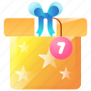 bubble, delivery, gift, message, notification, package, present icon