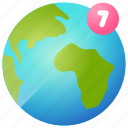 country, globe, location, map, notification, world icon