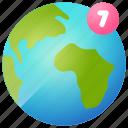 country, globe, location, map, notification, world