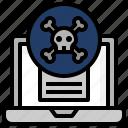 computer, danger, dangerous, dead, malware, programming, skull