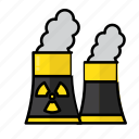 danger, energy, nuclear, pollution, radiation, radioactivity icon