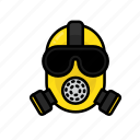 danger, gas mask, mask, nuclear, pollution, radiation, radioactivity icon
