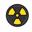 danger, nuclear, radiation, radioactivity icon