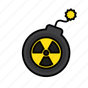bomb, danger, nuclear, radiation, radioactivity, war icon