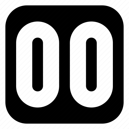 double, square, zero icon