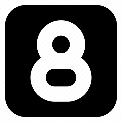eight, square icon