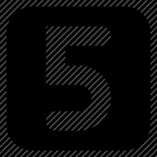 five, square icon