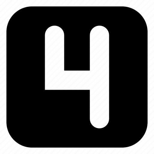 four, square icon