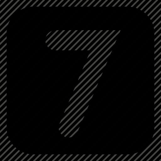 seven, square icon
