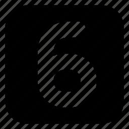 six, square icon