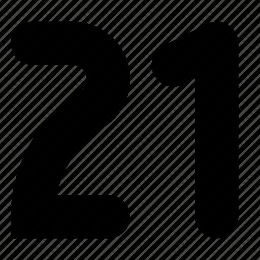 one, twenty icon
