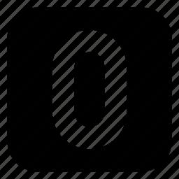 square, zero icon