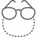 chain, glasses, old, optical, pensioners, retro, spectacles