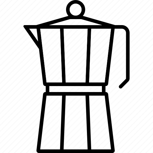 Barista, beverage, coffee, drink, mocha, moka, pot icon - Download on Iconfinder