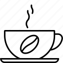 barista, beverage, coffee, coffee bean, cup, drink, hot icon