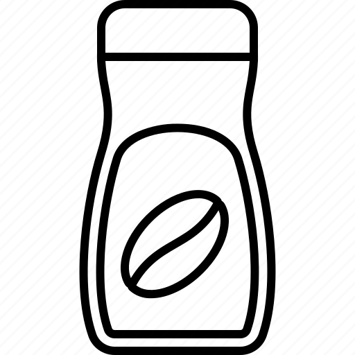 barista, beverage, coffee, drink, instant, jar, packaging icon
