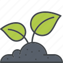 garden, gardening, growth, plant, soil, sprout icon