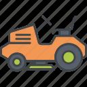 equipment, garden, gardening, lawn tractor, lawnmower, tool, vehicle icon