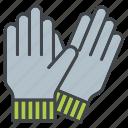 equipment, garden, gardening, gardening gloves, gloves, work wear icon