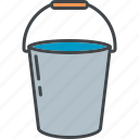 bucket, equipment, garden, gardening, handle, water icon