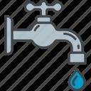 drop, equipment, faucet, garden, gardening, tap, water icon