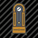 clock, decoration, furniture, grandfather clock, home, interior, time icon