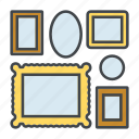 decoration, frames, gallery, home, interior, picture, picture frames icon