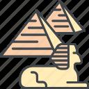 egypt, giza, landmark, monument, pyramids, sphinx, tourism