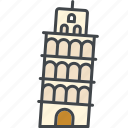 building, italy, landmark, leaning tower, monument, pisa, tourism icon